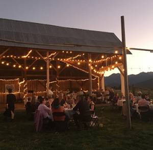 Outdoor dining at Scott River Ranch.